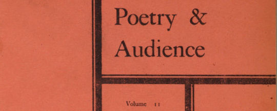 Poetry and Audience Edition 11, 29 August 1963