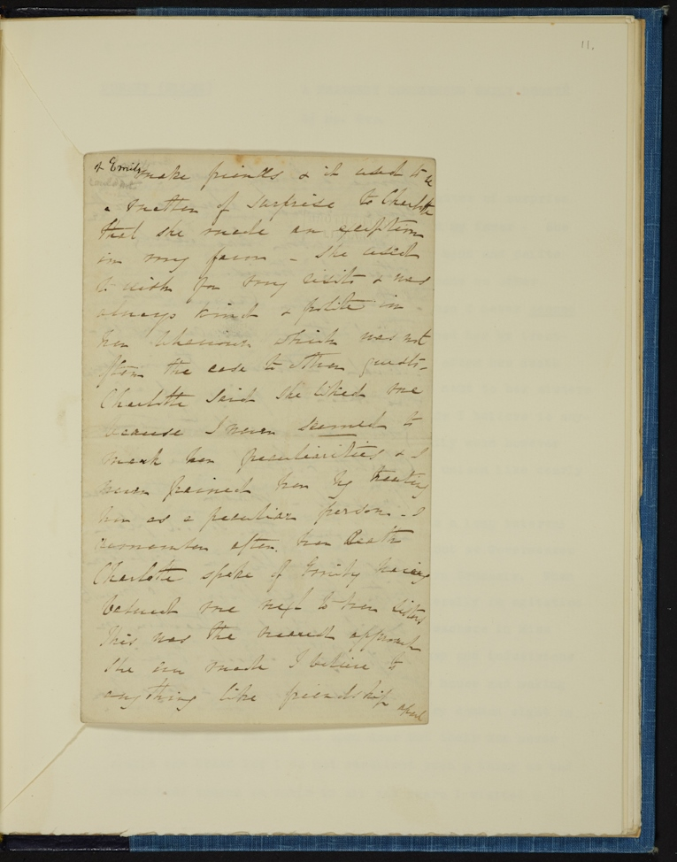 BC MS 19c Brontë/C14 Image © University of Leeds