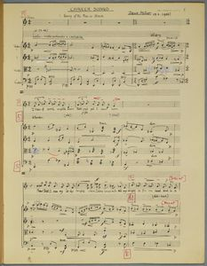 Score for Chaucer Songs, Denis ApIvor, 1936