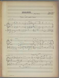 Score for Orgelberg, Denis ApIvor, 1971