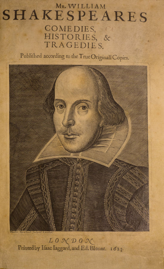 The First Folio of Mr. William Shakespeares Comedies, Histories, and Tragedies, 1623