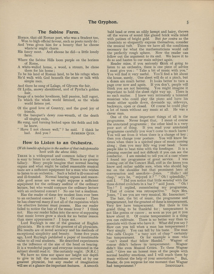 The Gryphon, volume 17 issue 1, 7th November 1913
