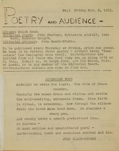Poetry and Audience - 6th November, 1953