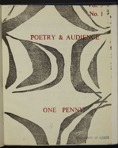 Poetry and Audience 6th October, 1961