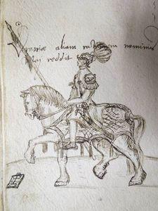 Brotherton Ovid man on horseback