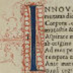 Ovid Opera Volume 1. Detail from sixth front flyleaf verso