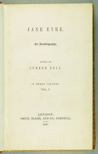 Jane Eyre, second edition title page