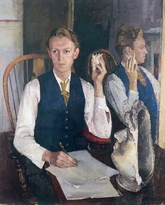 Maurice de Sausmarez, Portrait of James Kirkup, Gregory Fellow in Poetry (1951). Oil on canvas. University of Leeds Art Collection P1/1951. Reproduced with permission of Jane de Sausmarez ©.
