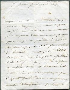 Drouet letter dated 07 Jan 1847