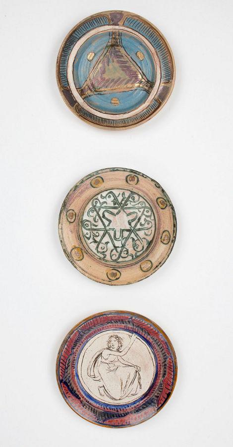 Three plates (Fulham pottery)