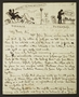 Letter illustrated with various pen and ink sketches.