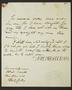 Letter signed 'Northangerland'.