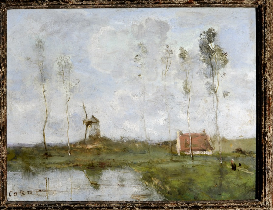 Landscape with Cottage and Windmill