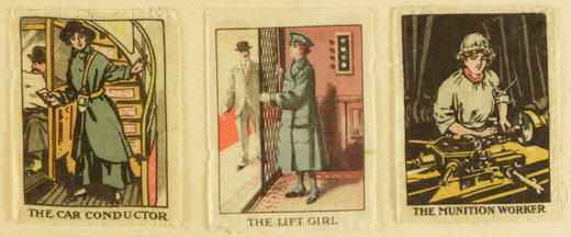 Cards showing women doing war work