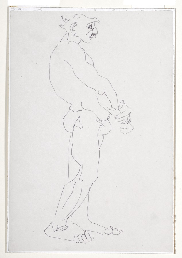 Standing Male Nude (Horace Brodsky)