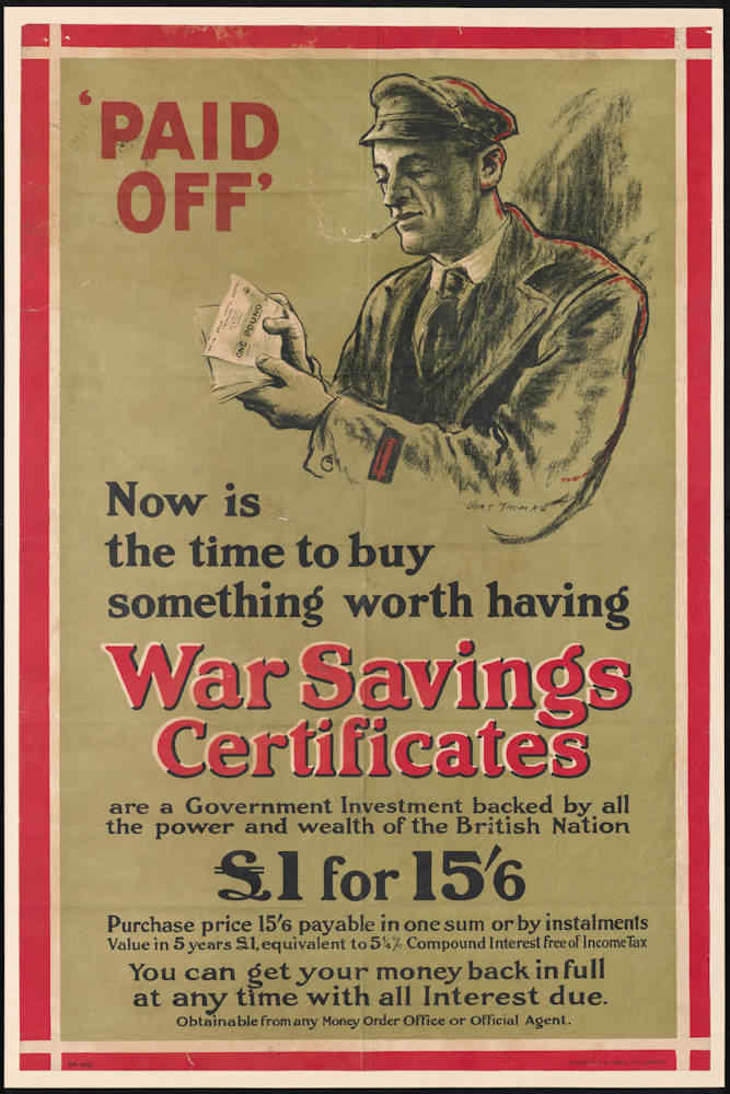 Paid Off - War Savings Certificates