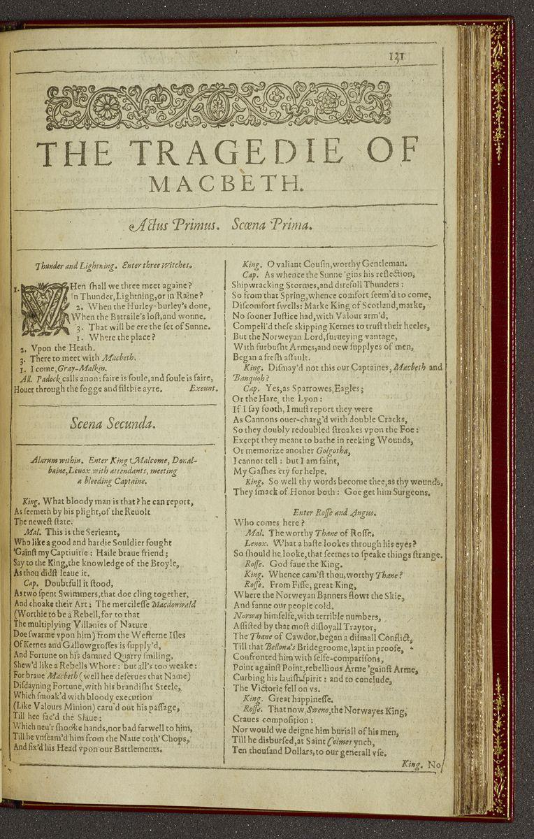 Macbeth. I. i. 1 - I. ii. 62