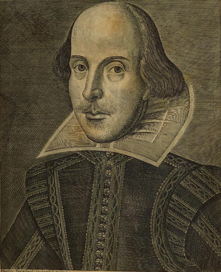 Portrait of Shakespeare (first folio)
