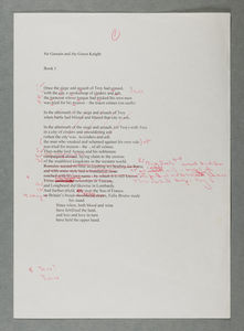 Gawain first section typed draft #2 from BC/MS20c/Armitage/1/21/1