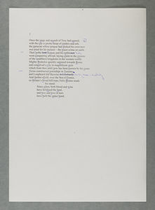Gawain first section typed draft #3 from BC/MS20c/Armitage/1/21/1