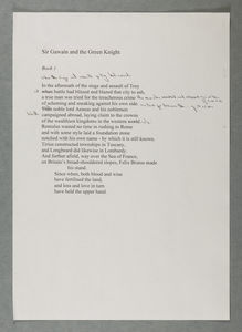 Gawain first section typed draft from Early Notes file BC/MS20c/Armitage/1/21/1
